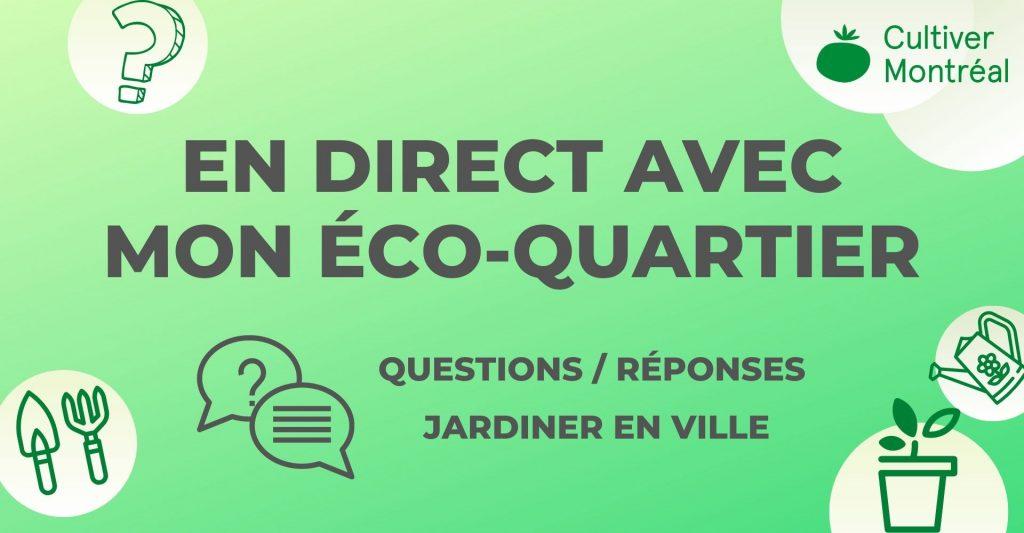 Programmation En direct Facebook Live Jardiner en ville